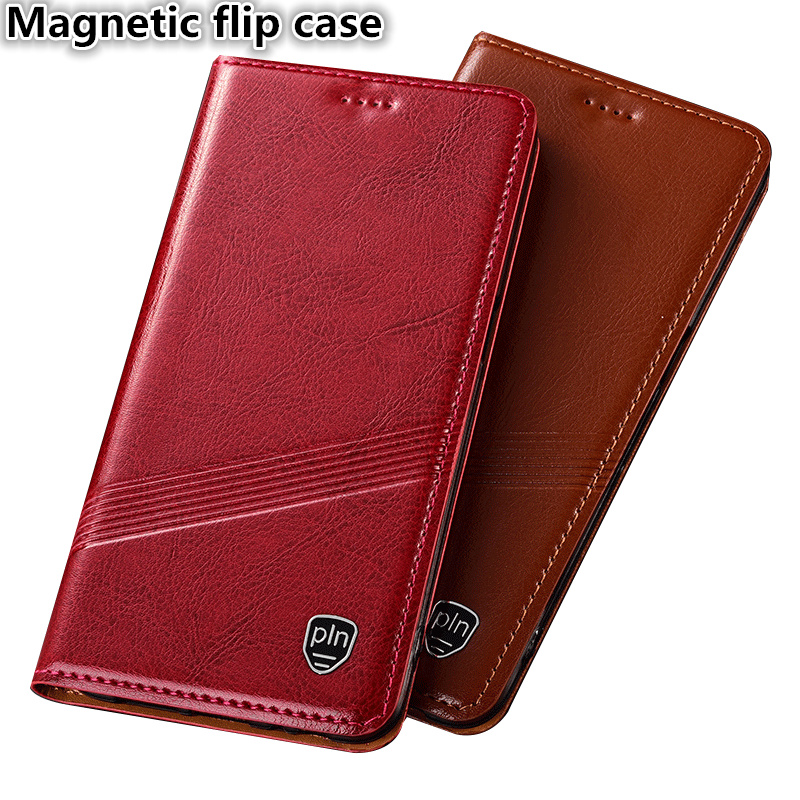 TZ01 Genuine leather magnetic flip case with card slot for font b OnePlus b font font