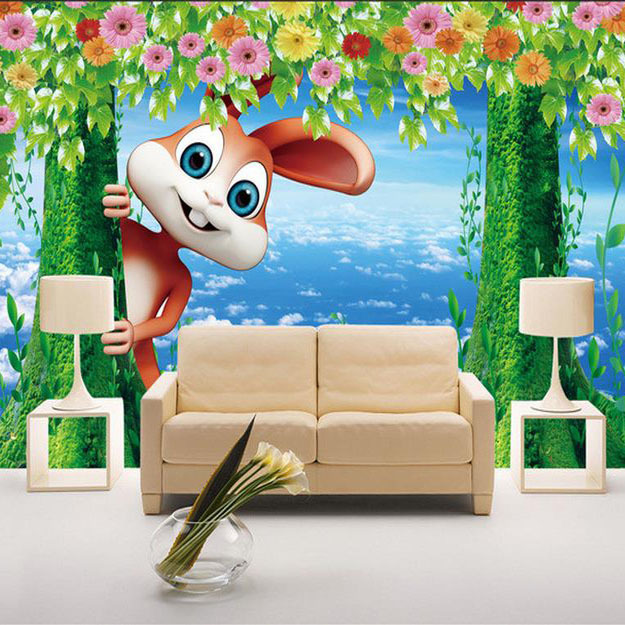 Living Room Background Animated: Customized 3d Wallpaper Cartoon Children's Room Funny Cute