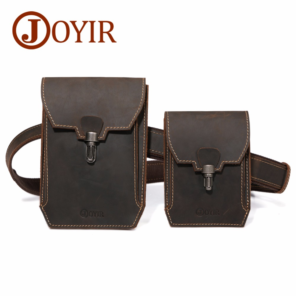 JOYIR 2018 New Genuine Leather Waist Bag Belt Bag for Men Vintage Fanny Pack Double Waist Packs Crossbody Bag Chest Bag for Male japan anime one piece original banpresto world figure colosseum bwfc zoukeiou vol 1 collection figure zoro
