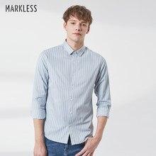 520eefcefc2f2b Markless Men Casual Shirt 2019 Spring Long Sleeve Shirts camisa masculina Mandarin  Collar Stripe Shirts for
