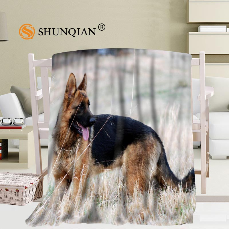 Custom German Shepherd Dog Blanket Soft DIY Your Picture Decoration Bedroom Size 56x80Inch 50X60Inch 40X50Inch A7