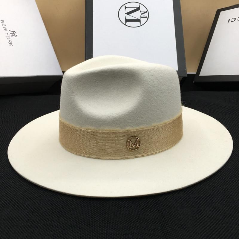 chapeau blanc Élégant en Laine Fedora