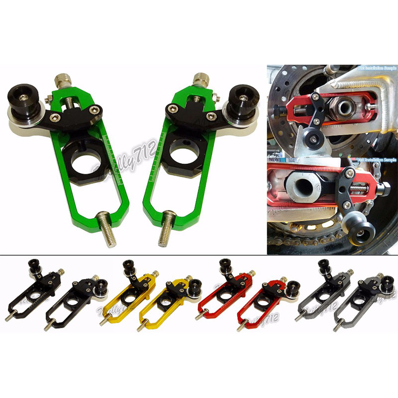 waase Motorcycle Chain Adjusters with Spool Tensioners Catena For Kawasaki Ninja ZX-10R ZX10R 2011 2012 2013 2014 2015 2016 cnc aluminum chain adjusters with spool tensioners catena for kawasaki zx 6r zx6r zx 6r 2009 2010 2011 2012 2013 2014 2015