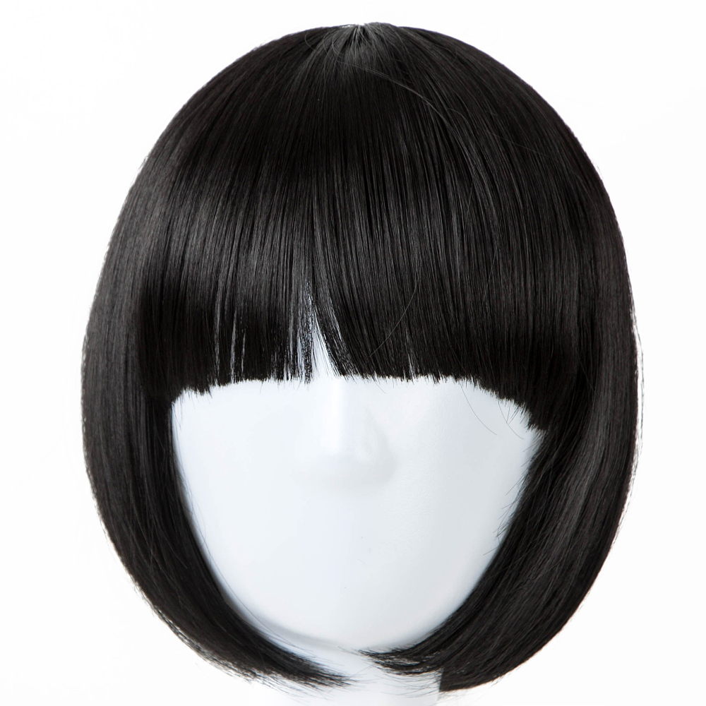 Synthetic Wigs Brilliant Short Wig Fei-show Synthetic Heat Resistant Fiber Wavy Inclined Bangs Hair Brown And Blue Costume Cos-play Salon Party Hairpiece