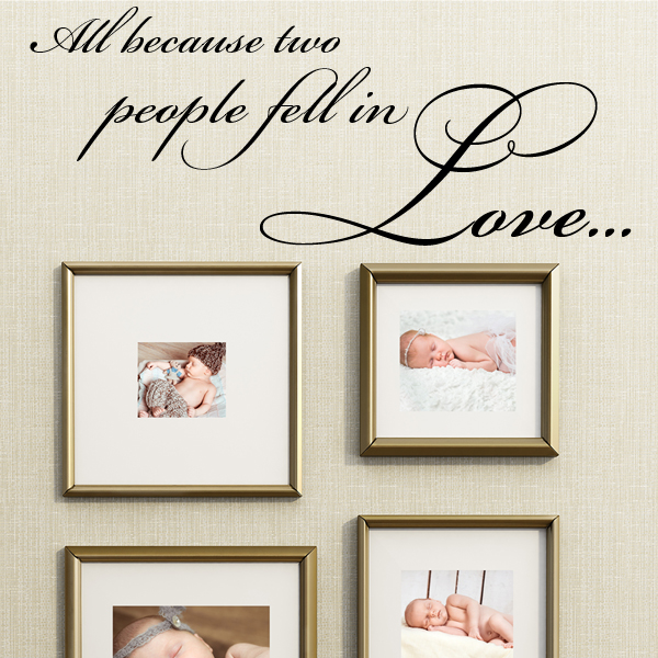 Clstrose All Because Two People Fell In Love Wall Stickers