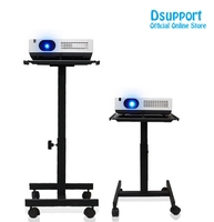 Projector Holder Speaker Stand Trolley With Tray And 360 Degree Universal Wheel