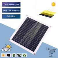 DIY Multifunctional Solar Panel Charger Solar Panel System Solar Controller Inverters Solar Panel Kit 20W Dual USB