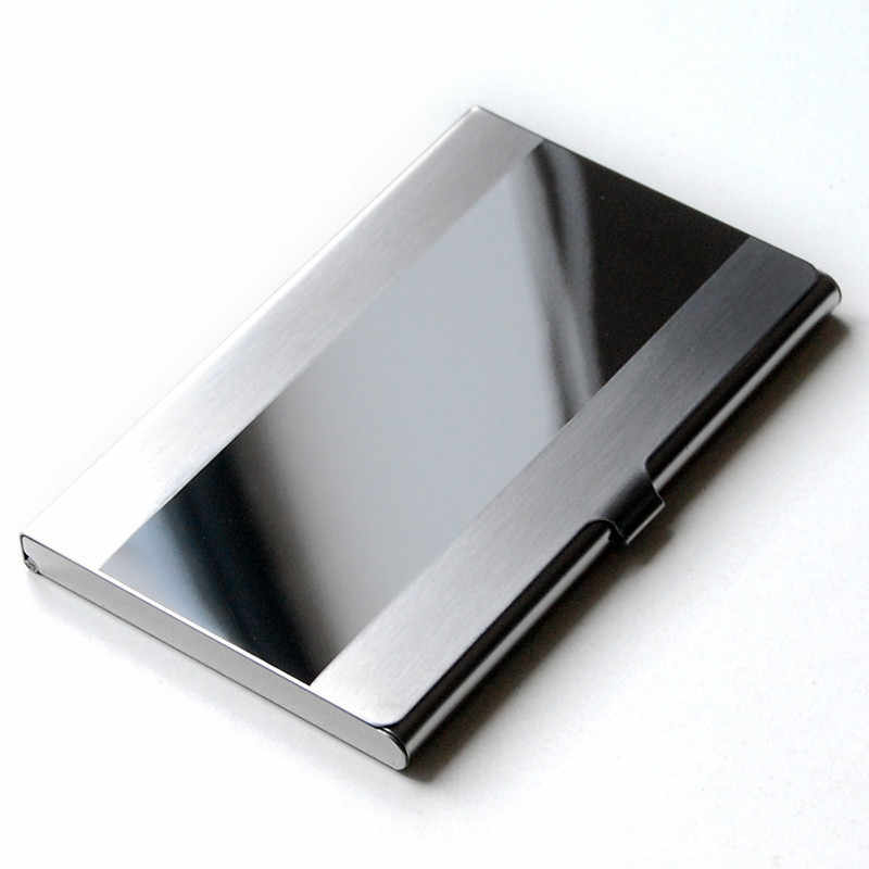 Waterproof Stainless Steel Silver Aluminium Metal Case Box Business ID Name Credit Card Holder Cover namecard cardcase