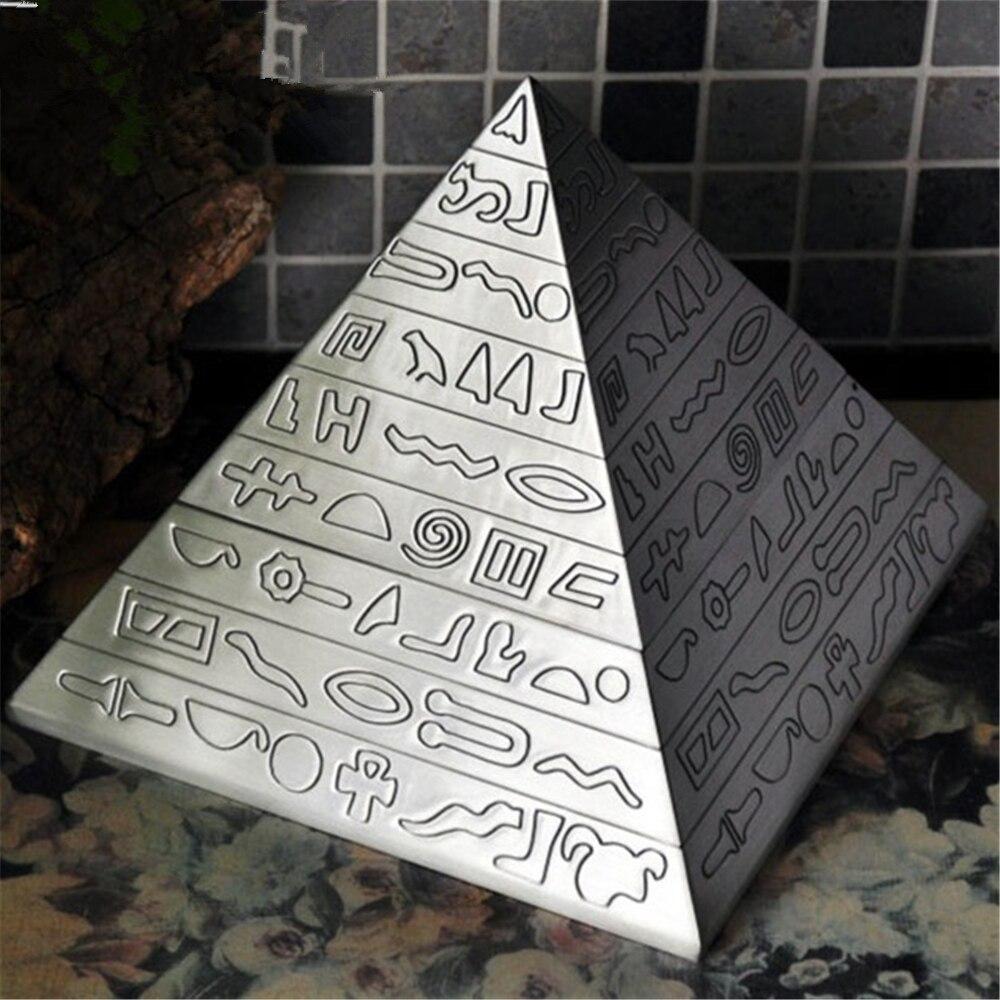 Haute Qualité Cendrier l'ancienne pyramide Égyptienne de Zinc Alliage Cendrier Bureau À Domicile Décoration De Bureau