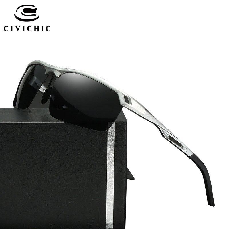 Men's Sunglasses Men's Glasses Enthusiastic Civichic Semi-rimless Night Vision Goggles Al-mg Polarized Sunglasses Outdoor Oculos De Sol Driving Glasses Hipster Eyewear E175 Grade Products According To Quality