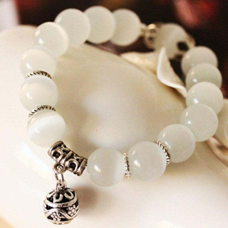 DIEZI Yoga Natural Opal Beads Stone Bracelet for Women Brave Buddha Charm Vintage Men Bracelets Fashion Jewelry Drop Shipping