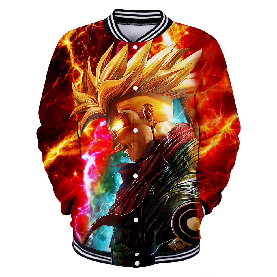 3D Dragon Ball Jacket Coat Men 2018 New Arrival Clothes Print Dragon Ball Mens Slim Fit  ...