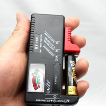 General battery tester power meter universal battery capacity tester 9 v 1 5 v AA and