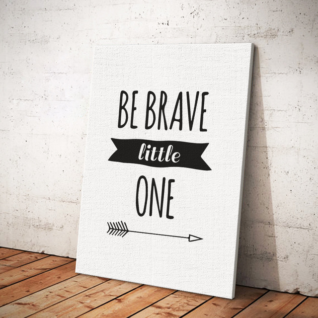 Canvas Painting Be Brave Little One Wall Pictures For Children's Room Lover's Gift Couple's Present Canvas Art Print Posters