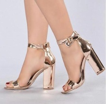 Classics golden crystal woman summer sandals high heel open toe bling casual shoes solid embelished
