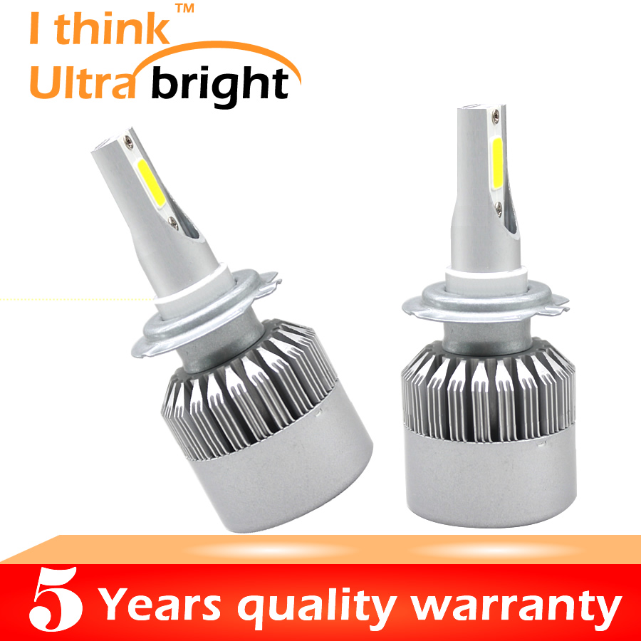 H4 H7 COB LED Headlight 70W 8000LM Car LED Headlights Bulb Head Lamp Fog Light Pure