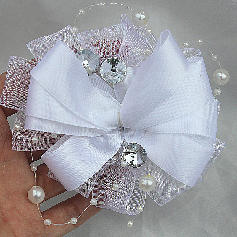 Pin On Wedding: White Custom Wedding Corsage Brooch New Design Ribbon