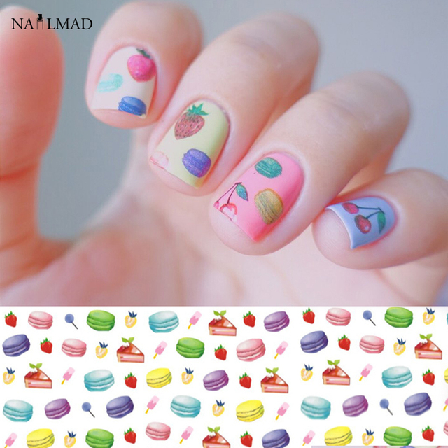 Balloon nail design image collections nail art and nail design ideas 1 sheet macarons nail water decals cupcake transfer stickers 1 sheet macarons nail water decals cupcake prinsesfo Choice Image