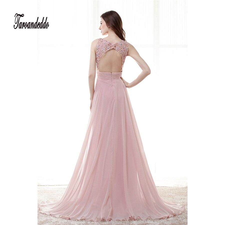 Lange Dark Pink Chiffon Sexy A linie Brautkleider Sheer Neck ...
