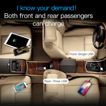 Baseus 4 USB Fast Car Charger For iPhone iPad Samsung Tablet Mobile Phone Charger 5V 5.5A Car USB Charger Adapter Car-Charger 1