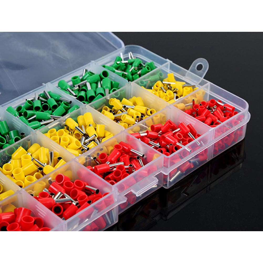 990pcs Electrical Wire Connector Crimp Ferrules Terminals Assortment Kit Cable End Wire Pin Terminal JDH99 1000pcs dupont jumper wire cable housing female pin contor terminal 2 54mm new