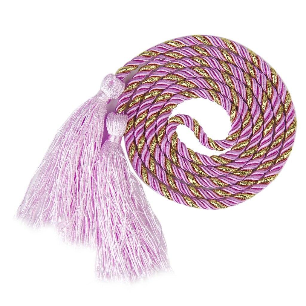 1 Pair of Curtain Tiebacks Tie Backs Tassel Rope Living Room Bedroom Decoration 135CM(Pink+Gold)