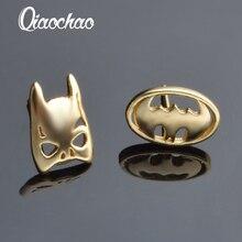 E443CHOKER Famous Brand Superman mask Stud Earrings For Women Vintage Ethnic Gold Animal Earrings Fashion Jewelry Brincos Bijoux