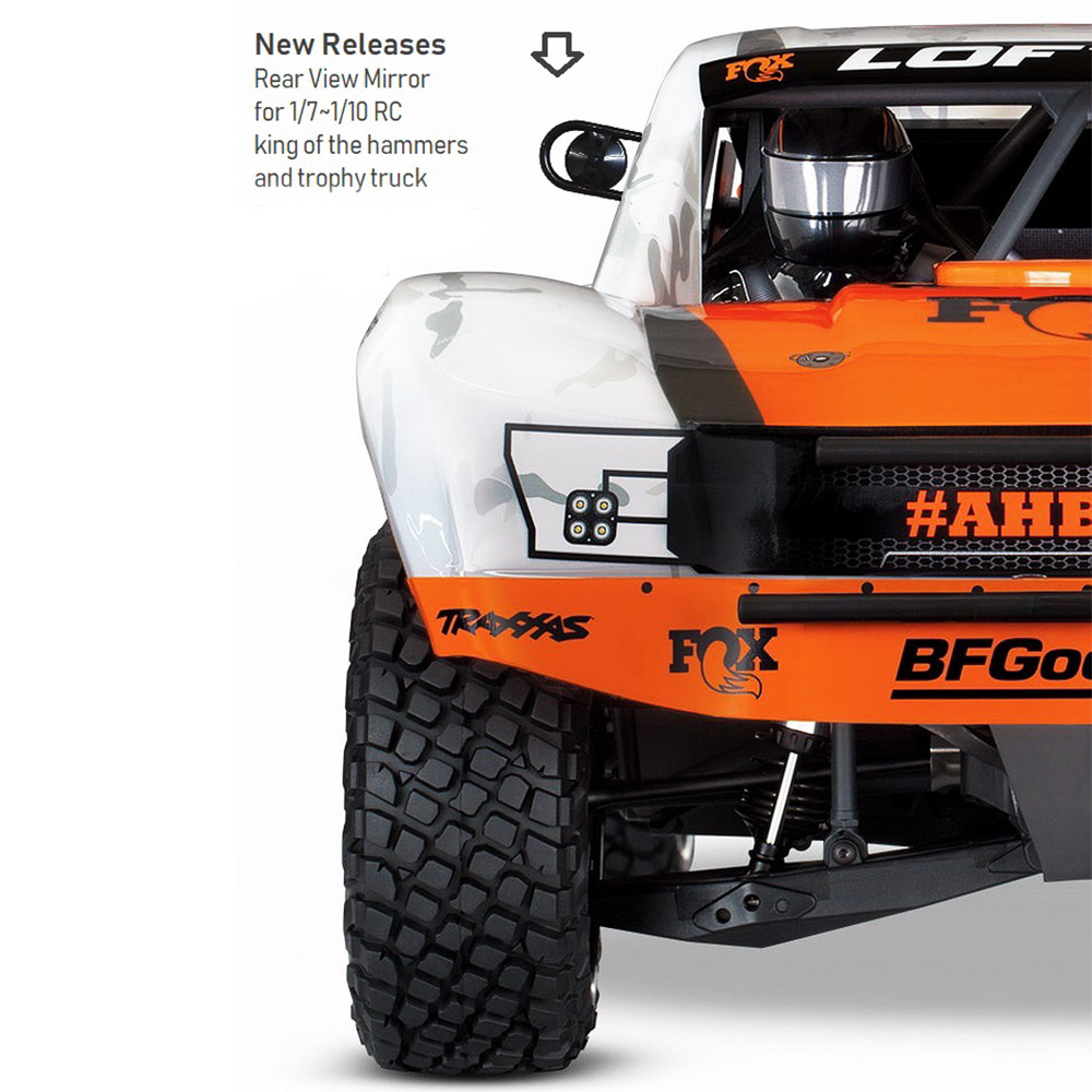 4PCS PVC FOX Shock Absorber Sticker Decal for 1//7 Traxxas Desert Racer UDR