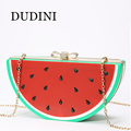 Factory Outlet Fashion Fruit Watermelon Lemon Semicircle Shape MINI Shoulder Messenger Bag Hasp Clutch Wallet Evening Bags Women