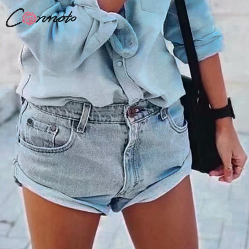 Conmoto Casual Denim Shorts Women Solid Sexy Summer Jeans Shorts Summer 2019 Shorts Low Waist Jeans Shorts