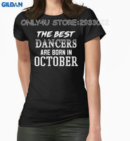 Gildan Only4U Quality T Shirts Short Dancer The Best Dancers Are Born In October Women'S 100% Cotton O-Neck Short-Sleeve Tee