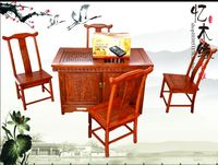 Antique Chinese furniture wood tea sets table combination of Kung Fu tea tables and chairs