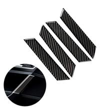 עבור פולקסווגן גולף 7 MK7 VII 2013 2014 2015 2016 2017 4pcs סיבי פחמן רכב פנים חלון דלת פנל כיסוי רצועת