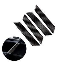 Para vw golf 7 mk7 vii 2013 2014 2015 2016 2017 4 pçs de fibra carbono do carro interior da porta janela painel capa tira