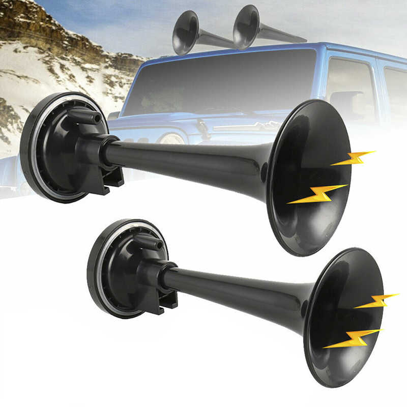 2PCS Universal Train Car Truck Boat Dual Air Horn Trumpet Super Loud