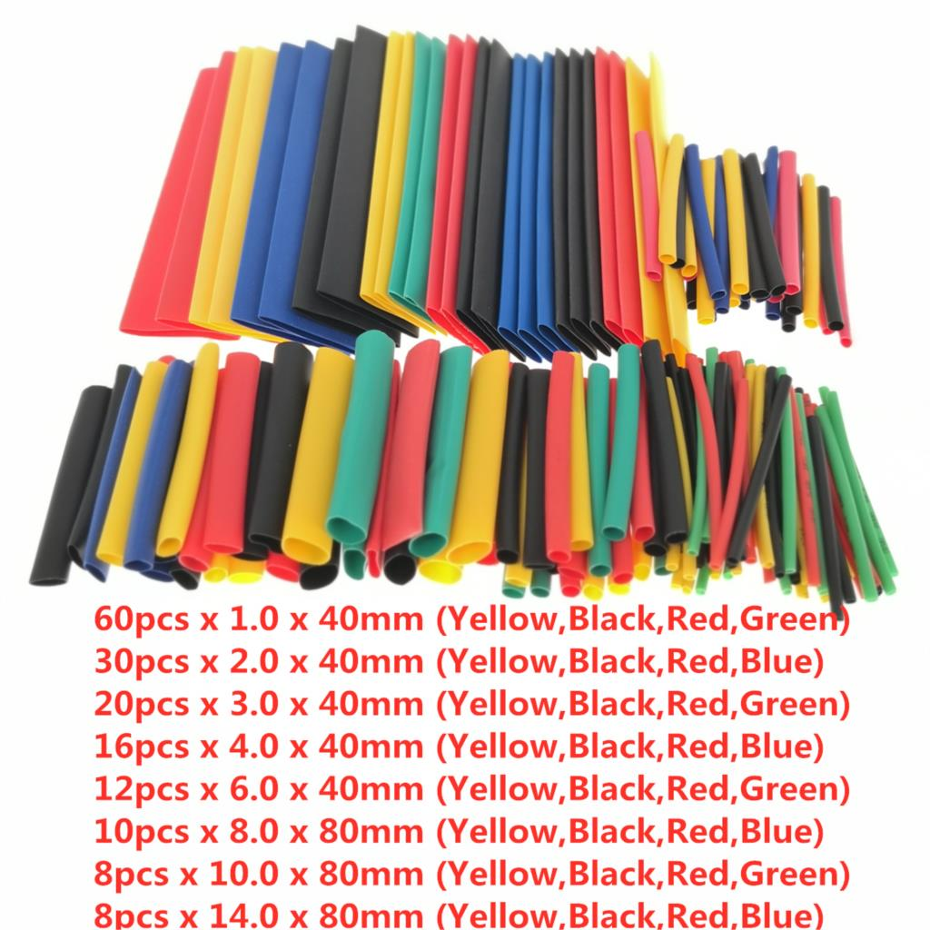 164pcs Assorted Polyolefin Heat Shrink Tube Cable Sleeve Wrap Wire Set Insulated Shrinkable Tube Kit