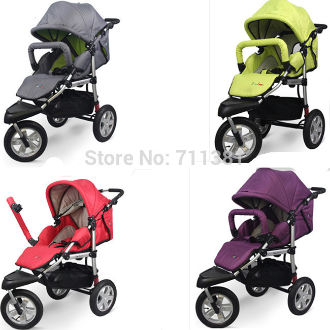Newborn Pram 3 Wheels Baby Stroller 3 in 1 Stroller With Car Seat ...