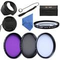 52mm UV Protector CPL Circular Polarizer FLD Macro Close Up +4 Lens Filter Kit For Nikon D3200 D3100 D5200 D5100 D90