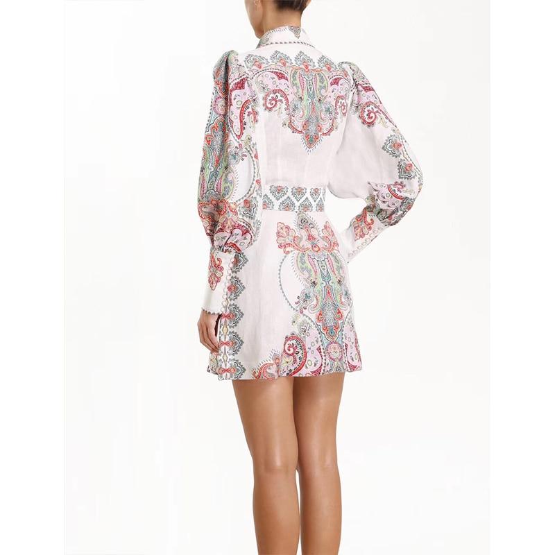 2019 봄 새로운 클래식 긴 소매 인쇄 미니 드레스 벨트 190508mld01-에서드레스부터 여성 의류 의  그룹 2