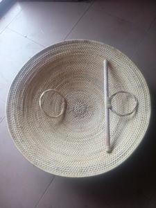 Image 1 - Lucamino ייחודי בעבודת יד קש מגן וושו טנג פאי וושו קונג פו מגיני טהור יד ארוג קש מגן ריקוד אבזרי יד אמנויות