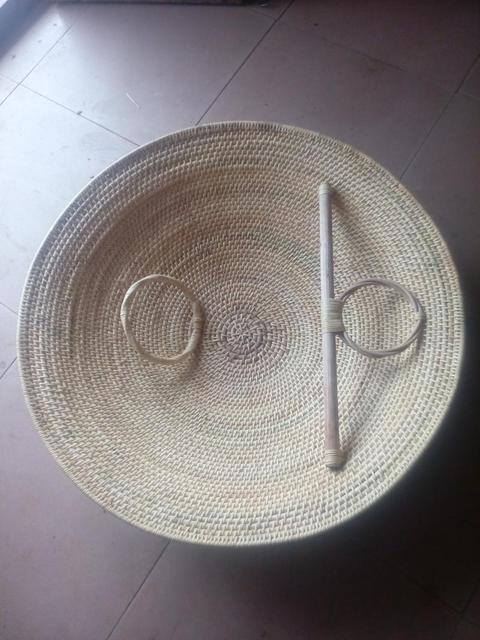 Lucamino ייחודי בעבודת יד קש מגן וושו טנג פאי וושו קונג פו מגיני טהור יד ארוג קש מגן ריקוד אבזרי יד אמנויות