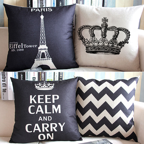 Crown Throw Pillow Covers