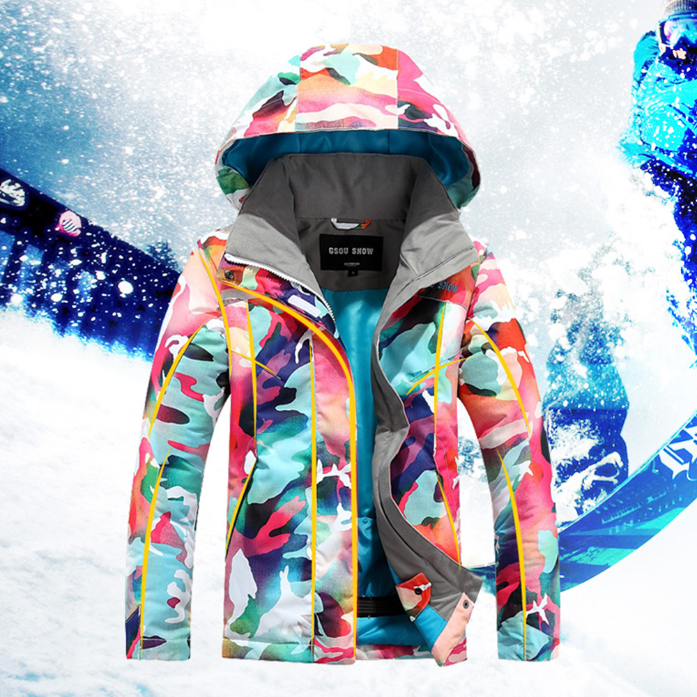 273036c456 GSOU SNOW Ski Jacket Kids Winter Snowboard Jacket Hoodie Girls Super Warm  Snow Camouflage Clothing Children 30 Degree Sports-in Snowboarding Jackets  from ...