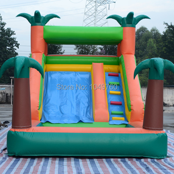 Inflatable Slide Pool Tesco: Free Shipping Jungle Bounce House Inflatable Water Pool