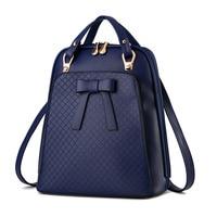 Ladies backpack shoulder bag Korean version of the influx of women bag school PU leather backpack 3