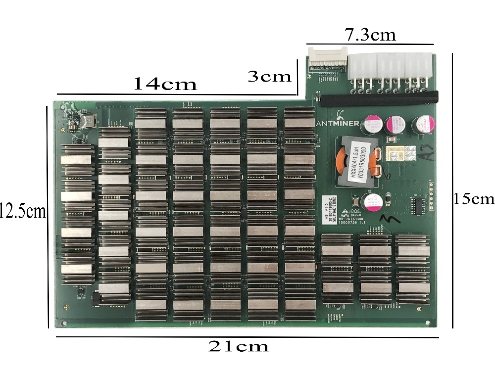 Antminer V9 original Hash Board 1.3 TH/s ===SHA256 342 watt the 14nm Asic Miner Btc Miner Lower power than antminer S5 S7 antminer s7 4 73t repair hash plate hash board one pc 1 57t bitcoin miner btc mining machine 28nm bm1385 chip sha256 miner