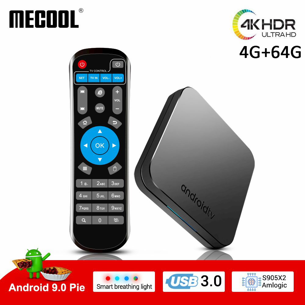 MECOOL mini smart android TV box 4K HDR Android 9 0 Ultra HD 4G 64G cast