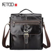 цена AETOO Business retro new large-capacity men's briefcase handbag hand-wiping computer bag leather men's tide bag