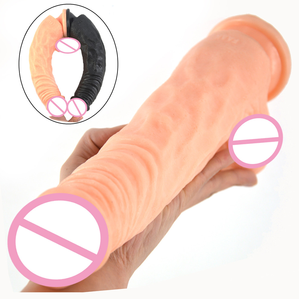 FAAK Realistic dildo big sex toys for women artificial penis with suction cup long dick lesbian masturbate flirting sex products lesbian woman double ended dildo realistic penis big dick anal and vagina double dong penetration long dildos for women sex toys