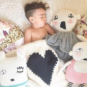 Image 5 - Trái tim Trẻ Sơ Sinh Em Bé Chăn Bọc Trẻ Con Bằng Tả Bọc Xe Đẩy Em Cot Giường Giỏ Nôi Chăn Dệt Kim Mềm Mại Crochet Chăn Sơ Sinh Ném Tắm Khăn